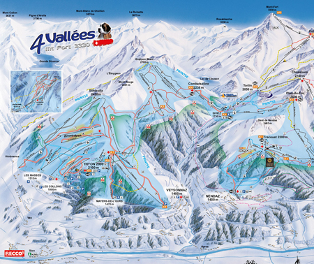 ski map Verbier Valley